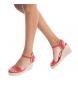 Comprar Refresh Sandalo 069717 rosso - Altezza cuneo: 8.5cm-