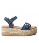 Sandalia 069732 jeans -Altura cuña: 6cm-