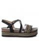 Sandalia 069941 negro -Altura plataforma: 5cm-