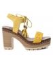 Compar Refresh Sandale 069724 jaune - hauteur talon : 10cm