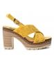 Compar Refresh Sandale 069726 jaune - hauteur talon : 10cm