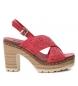 Sandalia 69726 rojo -Altura tacón: 10cm-
