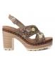 Compar Refresh Sandal 069813 taupe -Heel height: 10cm