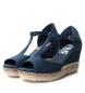Comprar Refresh Jute 069810 navy wide wedge sandals - Wedge height: 8cm