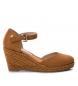 Compar Refresh Sandale 069730 chameau - Hauteur de coin : 8cm