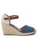 Compar Refresh Alpargatas wedge half jute 069769 jeans - Wedge height: 8cm