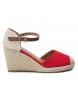 Comprar Refresh Sandalia 069769 rojo -Altura cuña: 8cm-