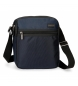 Compar Roll Road Shoulder Bag Roll Road Stock double compartment Blue -22x26x8cm-