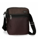 Compar Roll Road Roll Road shoulder bag Stock double compartment Brown -22x26x8cm-