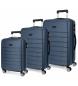Comprar Roll Road Set valigie rigide 37L / 62L / 95L cm Roll Road Magazine Blu -39x55x20 / 47x66x24 / 51x76x29cm-