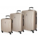 Compar Roll Road Suitcase Roll Road Cambodia Rigid -55-70-80cm- Champagne