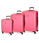Compar Roll Road Suitcase Roll Road Cambodia Rigid -55-70-80cm- Strawberry