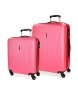 Compar Roll Road Ensemble de bagages rigides Cambodia Roll Road 36L-72L Fraise -40x55x20 cm/50x70x26 cm