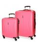 Juego de maletas Roll Road Camboya rígido Fresa -40x55x20cm / 50x70x26cm-