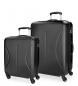 Juego de maletas Roll Road Camboya rígido Negro -40x55x20cm / 50x70x26cm-