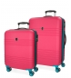 Compar Roll Road Juego de maletas Roll Road India -55-69cm- Fucsia