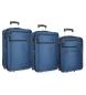 Compar Roll Road Juego de maletas Roll Road Time -55-65-75cm- Azul Marino