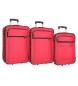 Compar Roll Road Juego de maletas Roll Road Time -55-65-75cm- Rojo