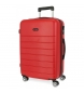 Compar Roll Road Grande valise rigide Roll Road Magazine rouge -51x76x29x29 cm