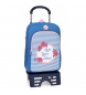 Mochila escolar Roll Road Rose con carro -30x40x13cm-