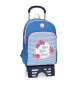 Mochila escolar Roll Road Rose doble compartimento con carro -33x44x13,5cm-