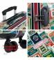 Skpat Set di 2 valigie Kiev 130500 verde, multicolore - 44x67x24cm -