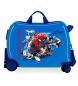 Maleta correpasillos 2 ruedas multidireccionales Spiderman Geo azul -38x50x20cm-