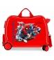 Maleta correpasillos 2 ruedas multidireccionales Spiderman Geo roja -38x50x20cm-