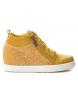 Zapatillas 049019 amarillo -Altura cuña: 6cm-