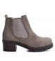 Compar Xti Wide heel ankle boot 033951 taupe