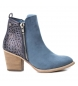 Compar Xti Booty wide heel cow boy 048928 jeans -Heel height: 7cm