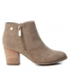 Compar Xti Booty wide heel 048981 taupe -Heel height: 7cm