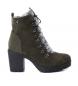 Compar Xti High heel ankle boot lace 048454 kaki -Heel heel: 8cm-