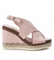 Compar Xti Sandal 048920 nude - Wedge height: 10cm