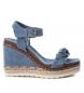 Sandalias cuña ancha bios 048921 jeans -Altura cuña: 10cm-