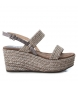 Compar Xti Sandal 048800 taupe - Wedge height: 8cm