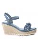 Sandalia 048943 jeans -Altura cuña: 8cm-