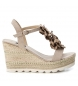 Compar Xti Sandal 049000 beige - Wedge height: 10cm