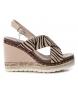 Comprar Xti Sandals 049127 zebra - Wedge height: 10cm