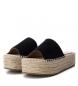 Comprar Xti Sandalo in pelle 049133 nero - Altezza plateau: 4cm-