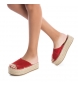 Comprar Xti Leather sandal 049134 red -High platform: 4cm