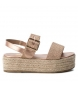 Sandalia 049064 oro -Altura plataforma: 5cm-