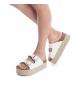 Comprar Xti Flat sandal bios 048119 white - Platform height: 8cm-
