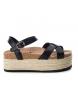 Sandalia 048123 negro -Altura plataforma: 6cm-