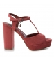 Compar Xti Wide-heeled sandal 034074 burgundy -Heel height: 11cm