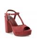 Comprar Xti Wide-heeled sandal 034074 burgundy -Heel height: 11cm