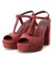 Comprar Xti Sandale à talon large 034074 bordeaux -Hauteur du talon : 11cm