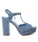 Compar Xti Sandalo tacco largo 034074 jeans - Altezza tacco: 11cm