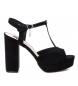 Compar Xti Wide-heeled sandal 034074 black -Heel height: 11cm