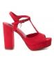 Sandalias tacón ancho 034074 rojo -Altura tacón: 11cm-